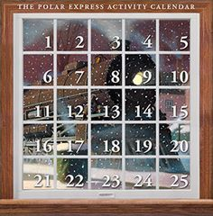 The Polar Express – by Chris Van Allsburg Polar Express Activities, Polar Express Party, Countdown Calendar, Advent Calendar, Christmas Activities, Christmas Crafts, Holiday Fun, Holiday Decor, 9 And 10