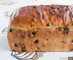 Krentenbrood - Broodbakshop ! Dutch Recipes, Pastry Recipes, Bread Recipes, Baking Recipes, Cookie Recipes, Stollen Recipe, Thermomix Bread, Pan Relleno, Sandwiches