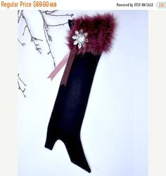 ON SALE Christmas Stocking Scarlet Empress by buydanusha on Etsy