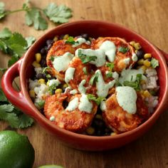 Spicy chipotle peppers make up the marinade for the shrimp and provide the heat