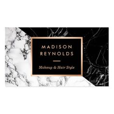 Makeup Artist Fashionable Mixed Black White Marble Pack Of Standard Business Cards