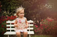 Cute princess on the bench