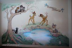 Disney Cartoon Characters, Disney Cartoons, Bambi Nursery, Disney Wall Stickers, Bambi Disney, Kids Wall Decor, Kids Bedroom, Wall Murals, Baby Room
