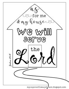 Joy to the world bible coloring pages and more pinterest as for me and my house we will serve the lord joshua coloring page publicscrutiny Gallery