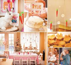 First birthday party themes, First birthday parties, Bunny party, Birthday party themes, Bunny birthday, Baby birthday party girl - Last month, my youngest daughter turned one, and you can probably gu - #Firstbirthday #partythemes