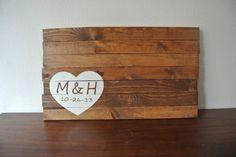 PERSONALIZED  Hand Painted Wood Sign Wedding Guest by Resalvaged, $65.00