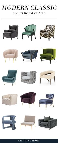Click to shop these beautiful Modern Classic Chairs from Kathy Kuo Home! Living Room Chairs, Living Room Decor, Classic Chairs, Classic Living Room, Furniture Collection, Traditional Design, Modern Classic, Living Room Designs, Modern Furniture