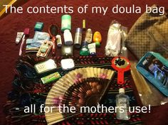 The mystery of the doula's bag is solved! Look here and see what I bring with me to a birth. Doula, Mom And Dad, Birth, Mystery, Bags, Handbags, Being A Mom, Bag, Totes