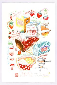 Not only is this beautiful art, it's in French!  This will look beautiful in my kitchen.