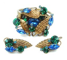Hey, I found this really awesome Etsy listing at https://www.etsy.com/listing/160492857/clamper-bracelet-clip-earrings-wheat