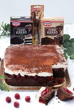 Kostka Wiśniowa - przepis Marty My Favorite Food, Favorite Recipes, My Favorite Things, Polish Desserts, I Want To Eat, Tiramisu, Cheesecake, Deserts, Dessert Recipes