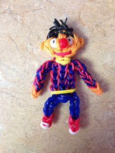 Rainbow loom charms Ernie figures. Now on YouTube ! designed and loomed by Cheryl Spinelli Of Looming WithCheryl