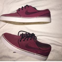 Nike Stefan Janoski Maroon and black. Brand new worn only twice. I don't wear them anymore so trying to sell. Nike Shoes Sneakers