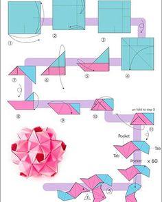 Origami for Everyone – From Beginner to Advanced – DIY Fan Origami Paper Folding, Origami Envelope, Origami Ball, Origami Love, Origami Fish, Origami Design, Diy Origami, Oragami, Geometric Origami