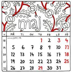 Maj 2014. Kalender av Jytte Hviid.