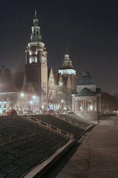 Szczecin's icon by night