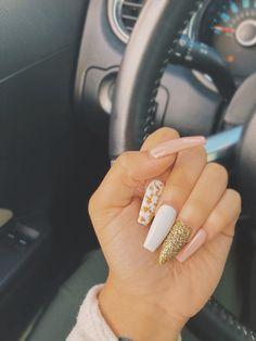 you should stay updated with latest nail art designs, nail colors, acrylic nails, coffin nail Gel Acrylic Nails, Acrylic Nail Designs, Gel Nail, Nail Polish, Trendy Nails, Cute Nails, Hair And Nails, My Nails, Prom Nails