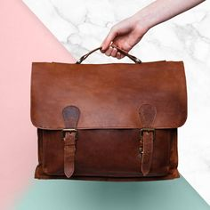 Are you interested in our personalised leather messenger satchel? With our personalised leather work bag you need look no further. Leather Work Bag, Leather Pouch, Leather Satchel, University Bag, Mahi Mahi, On The High Street, Classic Leather, Messenger Bag, Dust Bag