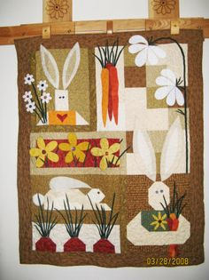 Easter Quilt idea... but I'd make it with spring colors