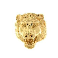 """Chevaliére homme """"tête de lion"""" en Or Jaune 18 Carats d'une largeur de 2,50 centimètres et de 2,80 Centimètres de hauteur. Cette manifique piéce de maitre en Or Massif d'un po"""