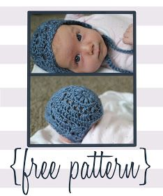 Baby Bonnet Crochet Pattern: Newborn and 3 month with worted yarn Free Form Crochet, Crochet Bebe, Crochet For Kids, Hat Crochet, Baby Bonnet Pattern Free, Free Pattern, Pattern Ideas, Crochet Crafts, Crochet Projects