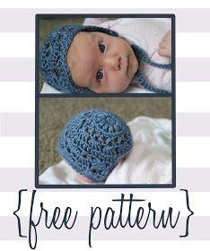 Baby Bonnet Crochet Pattern: Newborn and 3 month with worted yarn Free Form Crochet, Crochet Bebe, Crochet For Kids, Knit Crochet, Crochet Patterns, Crotchet, Baby Patterns, Crochet Baby Bonnet, Newborn Crochet