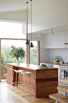 This is included to show that if there is wood trim on windows, it is good if it harmonizes with wood inside the house.  AN RENOVATED BEACH SHACK IN AUSTRALIA