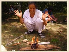 It wasn't all that long ago that we started fires, for heat and cooking, by rubbing sticks together. Believe it or not, there are people out there who actually teach us how to perform these simple skills, this is one of my friends who does just that.