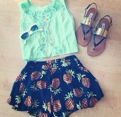 i just want shorts with pinapples on thme,  different cut short though