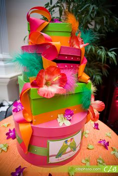 Tropical Fabulous Wedding Card Box by Creative Custom Card Boxes
