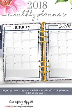 A Coral Weekly Organizer Week On One Page Instant Download