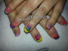 Holiday nails by Beverley Floyd at Capital Beauty Holiday Nails, Capital Beauty, My Nails, Manicure, Make Up, Nail Art, Bright, Beautiful, Nail Manicure