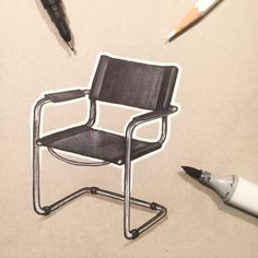 A Month of Chairs (10/30) Cantilever Chair by Mart Stam Have any ideas for chairs? Let me know in the comments! . . . . #idsketching #industrialdesign #furniture #furnituredesign #design #product #productdesign #render #art #instaart #draw #drawing #sketch #sketching #sketchbook #designsketching #chair #copic #sharpie