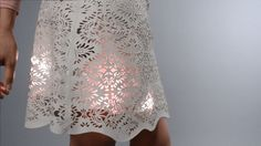 Sparkle Skirt using Adafruit Flora from MAKE