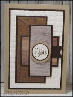 King's On Paddington: Stampin up Wood Textures Designer Series Paper