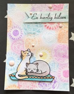 Card with Artistic Circles background from Hero Arts, and cats from Furry Friends by Avery Elle.