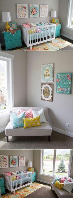 Chambre de bébé jaune et gris  inspirations du0027Ameliste pour liste