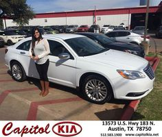 Congratulations to Amber Ybarra on your #Chrysler #200 purchase from Ashley Chavarria at Capitol Kia! #NewCar