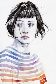 'Amanda' Original Painting by Agnes Cecile - Now available for purchase at Eyes On Walls http://www.eyesonwalls.com/collections/agnes-cecile?sort_by=created-descending