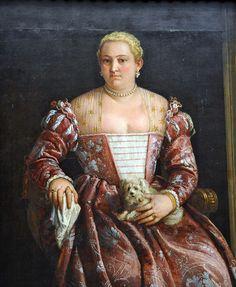 BOWS on earrings!   Portrait of a WomanFrancesco Montemezzano (Italian, Venetian, born about 1540, died after 1602) . MET, NYC by renzodionigi, via Flickr