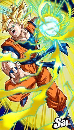 Goku SSJ Poster by SaoDVD on DeviantArt - Visit now for 3D Dragon Ball Z compression shirts now on sale! #dragonball #dbz #dragonballsuper