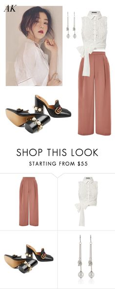 """Ft. 배주현 Irene #2"" by alva01 on Polyvore featuring Topshop, Marissa Webb, Gucci, kpop, Irene, redvelvet and polyvorefashion"