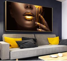 Women Face With Golden Liquid Large Wall Art Canvas Paintings Living Room Pictures, Wall Art Pictures, Canvas Poster, Poster Prints, Type Posters, Wall Posters, Images D'art, Grand Art Mural, Large Canvas Wall Art