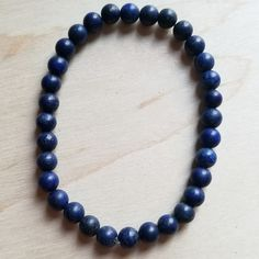 Bracelet Bar-Frosted Blue Lapis 800d