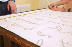 Como forrar un lienzo con la tela Britten Nummer de Ikea