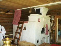 Varinka's bed above the oven