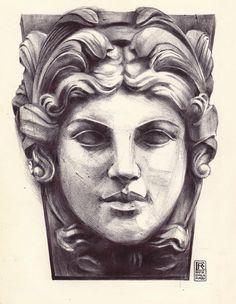 Female statue face Ballpoint Art by Rafik Emil H by rafikemil Statue Of Liberty Tattoo, Statue Tattoo, Sculpture Head, Roman Sculpture, Tattoo Artwork, Greek Statues, Face Sketch, Pencil Portrait, Art Sketchbook