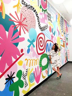 Art Stomping Ground Mural — Ashley Mary Solar Home Improvements without Panels You've grown tired of School Murals, Mural Wall Art, Graffiti Wall Art, Cool Wall Art, Colorful Wall Art, Colorful Decor, Art Abstrait, Public Art, Art Projects