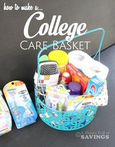 College student easter basket recipe box easter baskets and college how to make a college care basket negle Images