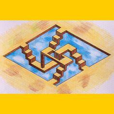 #impossible #opticalillusion #symmetry #geometry #Escher #Mc_Escher